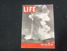 1946 AUGUST 19 LIFE MAGAZINE - OLD FAITHFUL - L 510