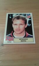 N°341 HENNING BERG # NORGE PANINI USA 94 WORLD CUP ORIGINAL 1994