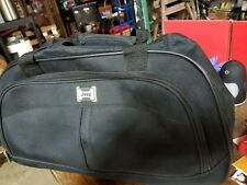 JEEP Rolling Duffel Bag Carry On Bag Travel Extendable Handle GUC