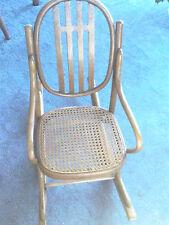 Mid Century Vintage J & J Kohn Austria Child Bentwood Rocking Chair Cane Seat NR