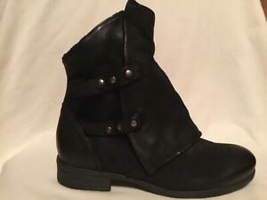 Miz Mooz Leather Wrapped Ankle Boots - Stinger Black 39 (8.5-9)