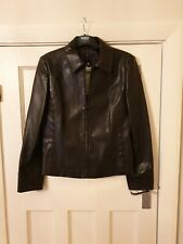 Next Brown Faux Leather Jacket Size 10 BNWT