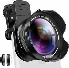 Phone Camera Lens Kit 2 in 1 Pro Camera Lens Kit 15X Macro 5K HD Wide Angle