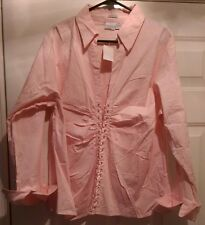 Carolina Colours NWT Womens Pink Tied Front Shirt Top Blouse Size 22W