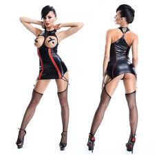 EXOTIC Sexy PVC Lingerie nightwear Hen Fetish Stripper Clubwear party Dress C306