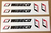Wiseco Stickers lot Dirt Bike Street ATV UTV Outboard Marine Cruiser auto car