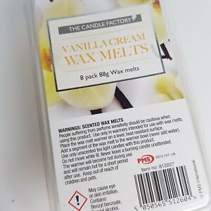 Vanilla Scented Wax Melts Pack of 8 White Brand new