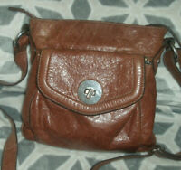 M&S Autograph Rich Brown Genuine Leather Cross Body Satchel Bag