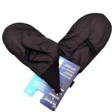 Isotoner Signature Womens Packable Tech Flip Mittens Size S/M Black NWT