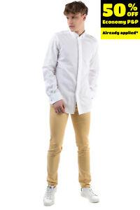 RRP €185 LARDINI Shirt Size 43 / 17 / XL Textured Wing Tip Collar French Cuffs