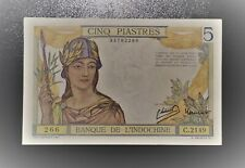 France Indochina 5 Piastres 1946 aUNC Banknote