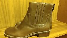 """L.L.Bean Women's """"Chelsea"""" Leather Pull-On Ankle Boots: Brown: Size 11 Medium"""