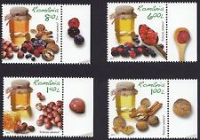 Romania 2013 Live Healty Jams Berries and Nuts Complete set of 4 MNH