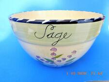 "Certified International"" Culinary Herbs"" Theme Lg Ceramic Bowl 11W"" x 7""Deep"