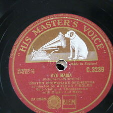 """78rpm 12"""" theodorowicz Ave Maria/BACH Aria Suite 3 RE MINORE C 3239"""