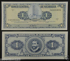 Nicaragua 1 Cordoba BANKNOTE 1968 UNC