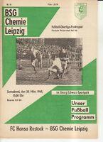 OL  67/68  BSG Chemie Leipzig - FC Hansa Rostock