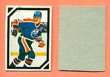 Wayne Gretzky 1985 O-Pee-Chee Hockey Stickers Box Cut Out Mini Blank Back Card