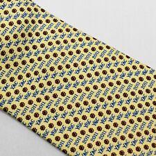 Yale Alumni Chorus 2011 Necktie 100% Silk Yellow Blue Tie