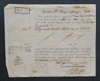 Facture lettre 1824 BARRE TOULOUSE AGDE 2
