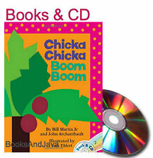 CHICKA CHICKA BOOM BOOK  Paperback Book & Audio CD Bill Martin Jr  NEW
