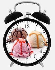 "Ice Cream Alarm Desk Clock 3.75"" Home or Office Decor E101 Nice For Gift"