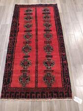 3x6ft. Vintage Handloomed Afghan Wool Runner
