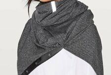 NWT Lululemon Vinyasa Scarf - Heathered Black Herringbone