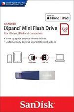 SanDisk® iXpand™ Mini 256GB Flash Drive USB 3.0 Stick For iPhone and iPad (BLUE)