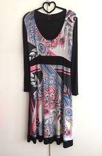 James Lakeland - Womens Stunning Floral A-Line Jersey Dress/Size: 42/UK 10/NWOT