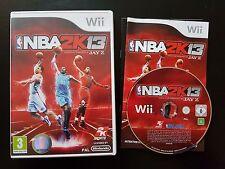 NBA 2K13 - Nintendo Wii / Wii U - Free, Fast P&P! - VERY RARE - PAL, 2013