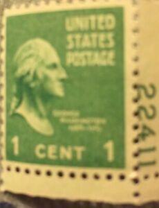Rare US Postage Stamp George Washington One Cent Mint Unused