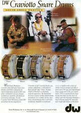1998 Print Ad of DW Drum Workshop Craviotto Snare w Josh Freese, Herman Matthews