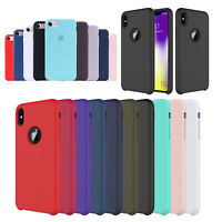 Case For Apple iPhone X XR XS Max Original Genuine Hard Silicone Phone Cover BT