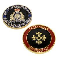 "RCMP Police Challenge Coin ""C"" Division Unit Royal Canadian Mounted Police"