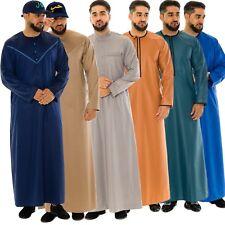 Mens Designer Jubba Collared Round Neck Soft & Stiff Material Thobe Arab Jubbah