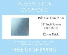 "2 x 14"" Inch Square Pale Blue Wedding Birthday Cake Drum / Board 12mm"