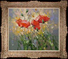 """Hand-painted Original Oil painting art knife flower On Canvas 20""""x24"""""""