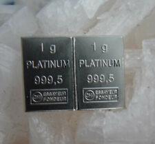 2x 1g Platinbarren mit Zertifikat wie Palladium Silberbarren Goldbarren PLATINUM