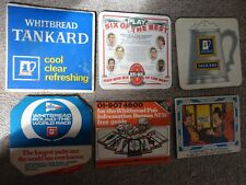 Beer drinks mats drip coaster WHITBREAD RARE EXAMPLES Tankard job lot collection