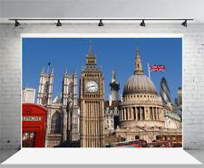 7x5ft Background Vinyl Photo Studio Props Big Ben Backdrop Natural Scene UK Flag