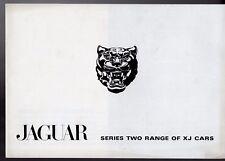 JAGUAR XJ SERIE 2 1973-74 mercato britannico DI LANCIO BROCHURE DI VENDITA B&W XJ6 4.2 XJ12 XJC