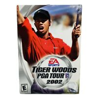 Tiger Woods PGA Tour 2002 Big Box Video Game For PC CD-ROM EA Sports Golf (New)