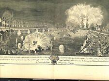 Illuminations feux d'artifice mariage de Louise-Elisabeth à Paris GRAVURE 1879
