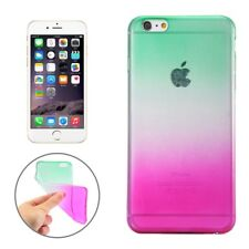 Apple iPhone 6 6s 4.7 funda TPU degradado en color arco iris cover verde-blanco-Magenta