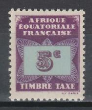Timbre d'AFRIQUE EQUATORIALE FRANCAISE neuf taxe N° Y. & T. 1 (MI P1)