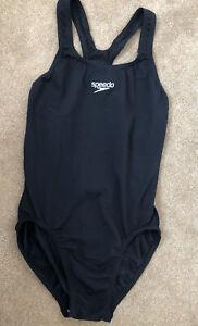 Size 12 Speedo Endurance Bkack Swimsuit With Racer Style Back