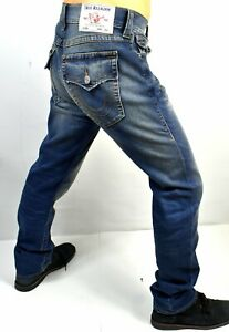 True Religion Men's Rocco Medium Submerge Relaxed Skinny Jeans - 102650 Sz 46x33