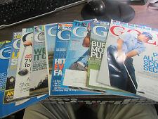 2013 YEAR GOLF MAGAZINEs - 9 FULL ISSUES APR - DEC - TIGER, McDOWELL, MILLER