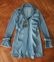 ELISA CAVALETTI Club Button Front Long Sleeve Knee Length Thick Cotton Coat sz S
